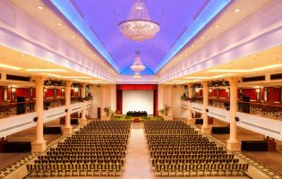 Grand Ballroom at Orchid Country Club can seat up to 1,500 people